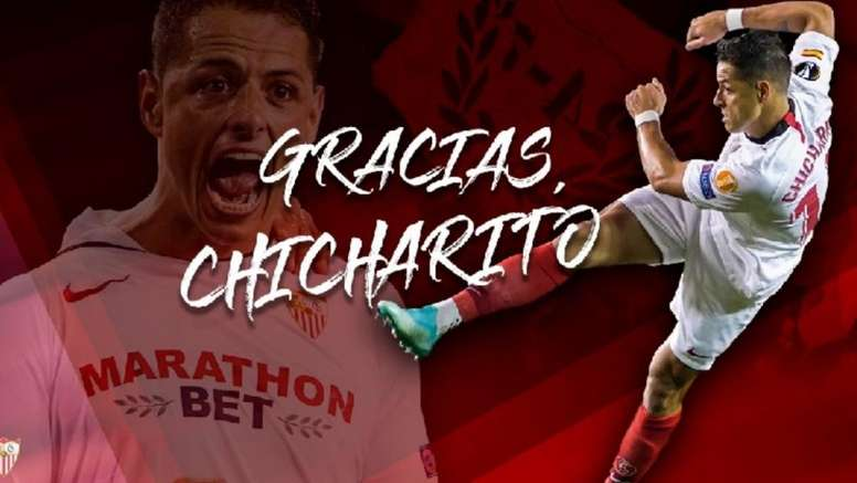 Chicharito, transferido ao Los Angeles Galaxy. Twitter/sevillaFC