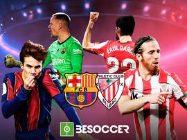 Barcelona e Athletic Bilbao se enfrentam na final da Supercopa da Espanha. BeSoccer