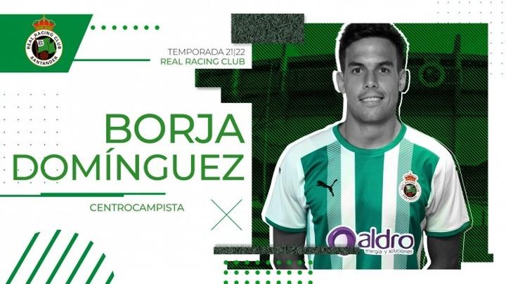 Borja Domínguez vestirá la camiseta del Racing esta temporada. Twitter/realracingclub
