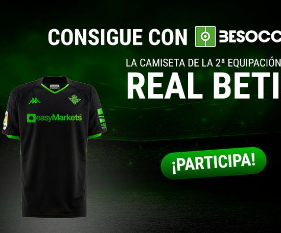 Consigue la camiseta de la segunda equipación del Betis. BeSoccer