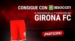 Consigue un pantalón de la primera equipación del Girona. BeSoccer