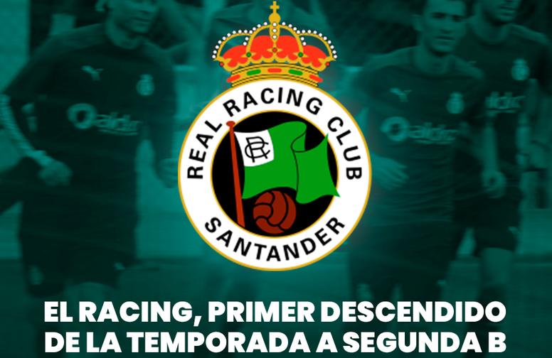 El Racing desciende a Segunda B. BeSoccer