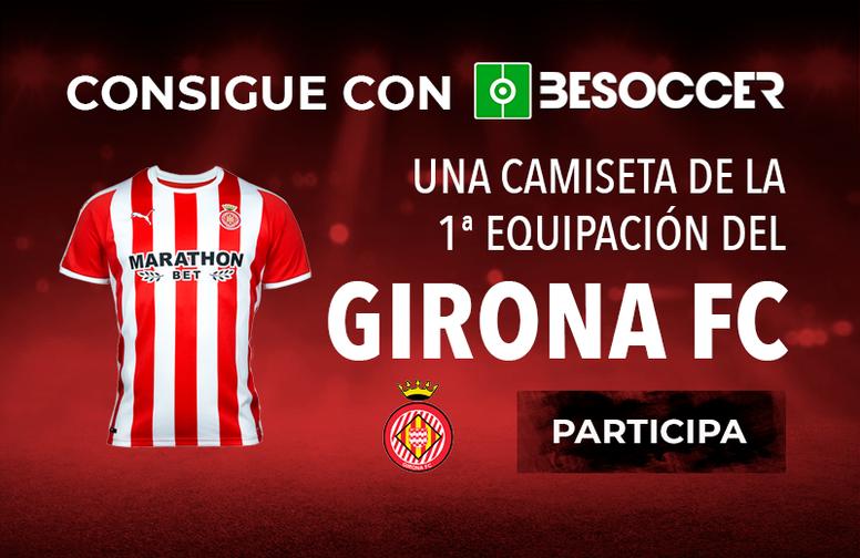 Consigue la camiseta de la primera equipación del Girona. BeSoccer