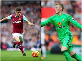 Cresswell (L) and Pickford have been drafted in to the England squad. BeSoccer