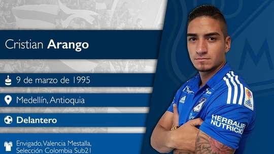 Cristian Arango, 22 anos, deve chegar a Portugal no verão para representar o Benfica.EFE