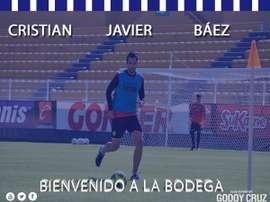 Cristian Báez fichó por Godoy Cruz. Twitter/GodoyCruz