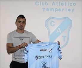 Cristian Chimino ha sufrido una grave lesión. Temperley