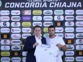 Cristian García, nuevo jugador del Concordia rumano. Twitter