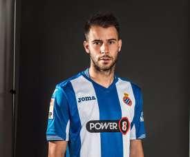 Cristian Gómez, con la camiseta del Espanyol. CristianGomez