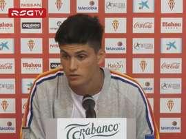 Cristian Salvador confía en hacer bien las cosas en el Sporting. Captura/RealSporting