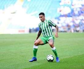 Tello anotó el segundo gol del Betis. Twitter/RealBetis