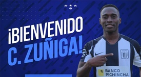 Zúñiga, nuevo fichaje de Alianza Lima. AlianzaLimaOficial