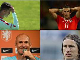 Ronaldo, Bale, Robben and Modric could all miss out on the World Cup. BeSoccer