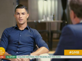 Roanldo in his interview with ITV. Captura/ITV