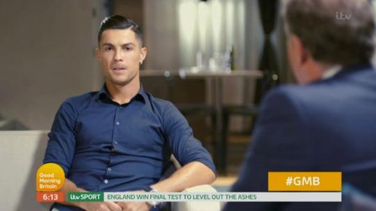 Roanldo in his interview with ITV. Captura/ITV