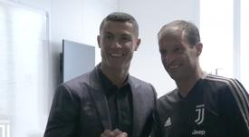 Cristiano está listo para jugar. Twitter/Juventusfc