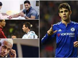 Cristiano, Messi, Oscar, Hulk et Neymar. BeSoccer