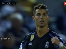 Cristiano célèbre son deuxième but face au Celta. ESPN