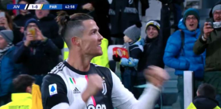 Ronaldo scored 2. Screenshot/#Vamos
