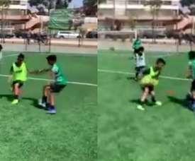 Cristiano Jr. treinou com o Sporting. Capturas/ESPN