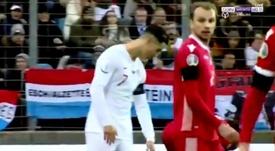 Cristiano volvió a recibir gritos de 'Messi, Messi'. EFE