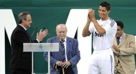 Cristiano was bought by Real Madrid from Man Utd in 2009. AFP