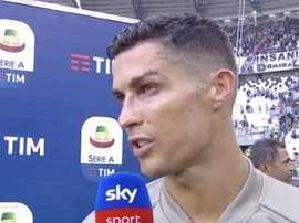 Cristiano Ronaldo a fait le bilan de sa rencontre. Captura/SkySport