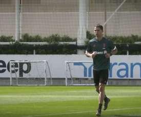 Cristiano Ronaldo espera para poder treinar com o grupo novamente. DUGOUT