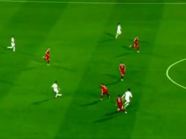 Houve impedimento no gol de Cristiano Ronaldo? Captura/Cuatro