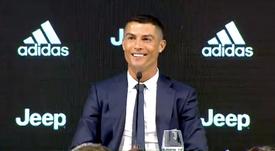 Cristiano afirmó que no cree que los madridistas estén llorando. Captura/Juventus