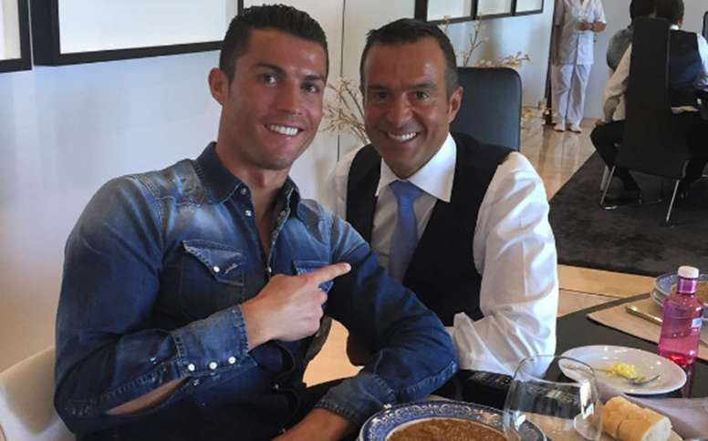 Image result for Jorge mendes, Ronaldo and Messi 2019