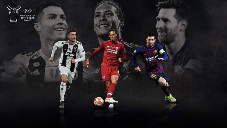 Calciatore dell'anno UEFA: candidati Cristiano Ronaldo, Messi e Van Dijk. UEFA