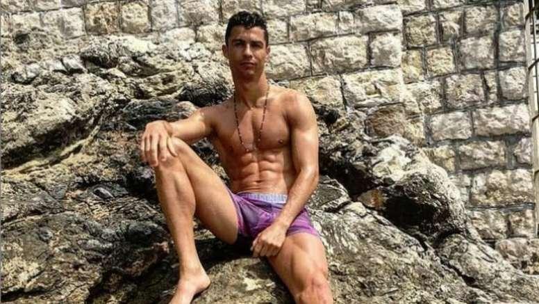 Cristiano Ronaldo está a desfrutar de uns dias de férias. Instagram/Cristiano
