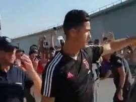 Cristiano já está em Turim. JuventusFC