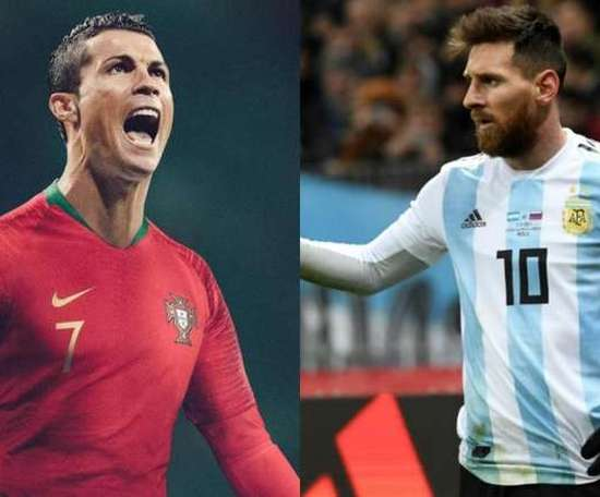 The awards won by Messi and Ronaldo. EFE