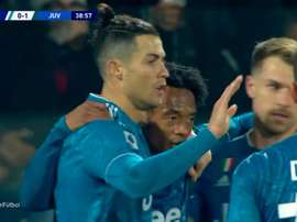 Ronaldo scored again. Screenshot/Movistar