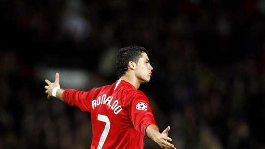 Doze anos da primeira Champions de Cristiano Ronaldo. AFP