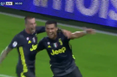 Ronaldo slotted home the opener left-footed. Screenshot