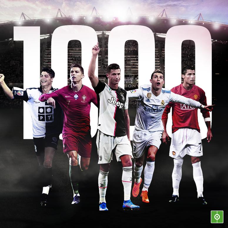 Lenda do futebol, Cristiano Ronaldo completou mil jogos oficiais na carreira. EFE