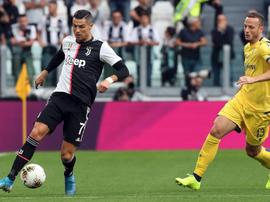 Cristiano hizo el 2-1 de penalti. JuventusFC