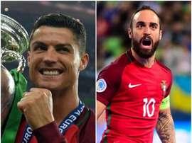 Ronaldo e Ricardinho, campeões da Europa por Portugal. BeSoccer