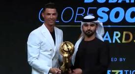Cristiano Ronaldo é eleito jogador do ano no Globe Soccer Awards. Twitter/Globe_Soccer