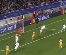 Ronaldo rose highest at the far post. Twitter