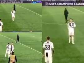 Cristiano Ronaldo a reproché à ses coéquipiers leur manque de courage. Capture/ASTV