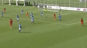 Cristiano Ronaldo scored in Pirlo's Juventus debut. Captura/SkySport