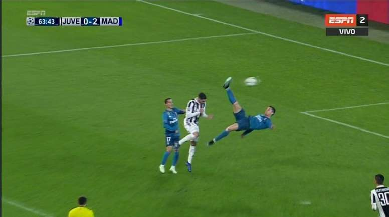 Ronaldo produced a moment of absolute magic to put Real in control. Screenshot/ESPN