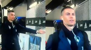 Cristiano ironiza partida com portões fechados. Capturas/Twitter/_deenise19