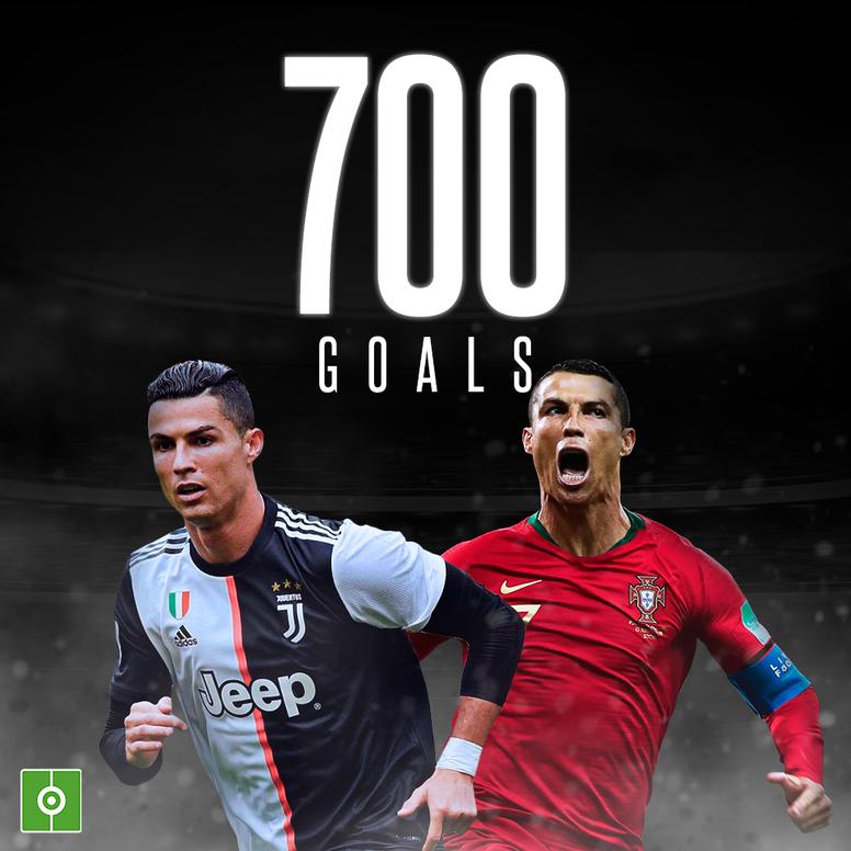 Cristiano Ronaldo scores 700th career goal. GOAL