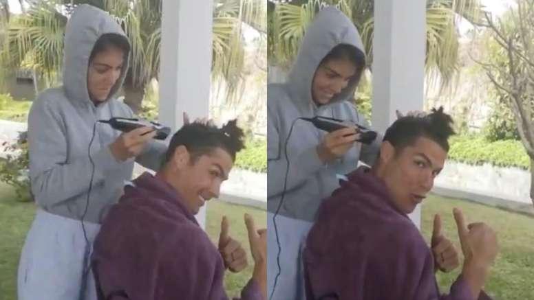 Ronaldo got his hair cut. Twitter/Cristiano
