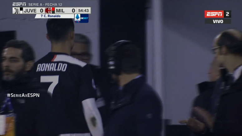 Ronaldo esce arrabbiato. ESPN